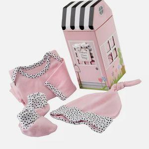 Baby Aspen 3 pc layette gift set for baby girl